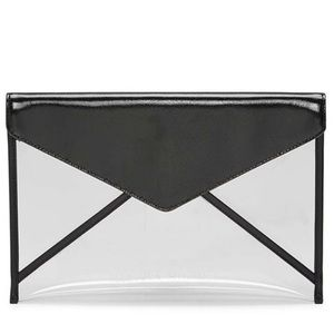 Rebecca Minkoff Leo translucent envelope clutch